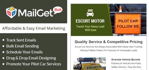 Email Marketing For Pilot Car Slider