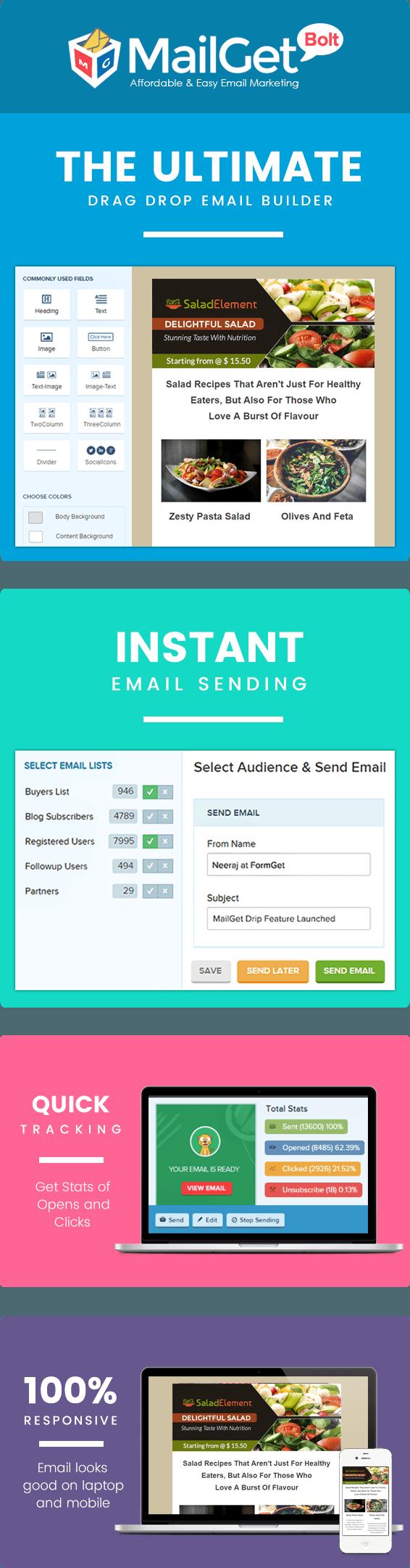 MailGet Bolt - Email Marketing For Salad Ingredients Sale