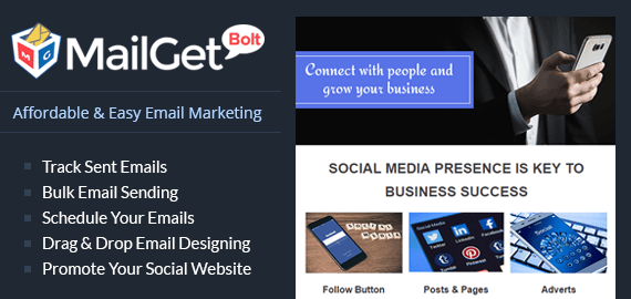 Email Marketing For Social Media Slider