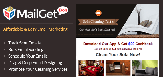 Email Marketing For Sofa Cleaning Services - Slider