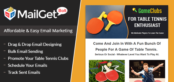 Email Marketing For Table Tennis Clubs & Ping-Pong Clubs