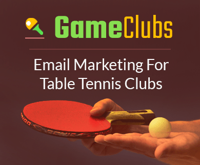 MailGet Bolt – Email Marketing For Table Tennis Clubs & Ping-Pong Clubs