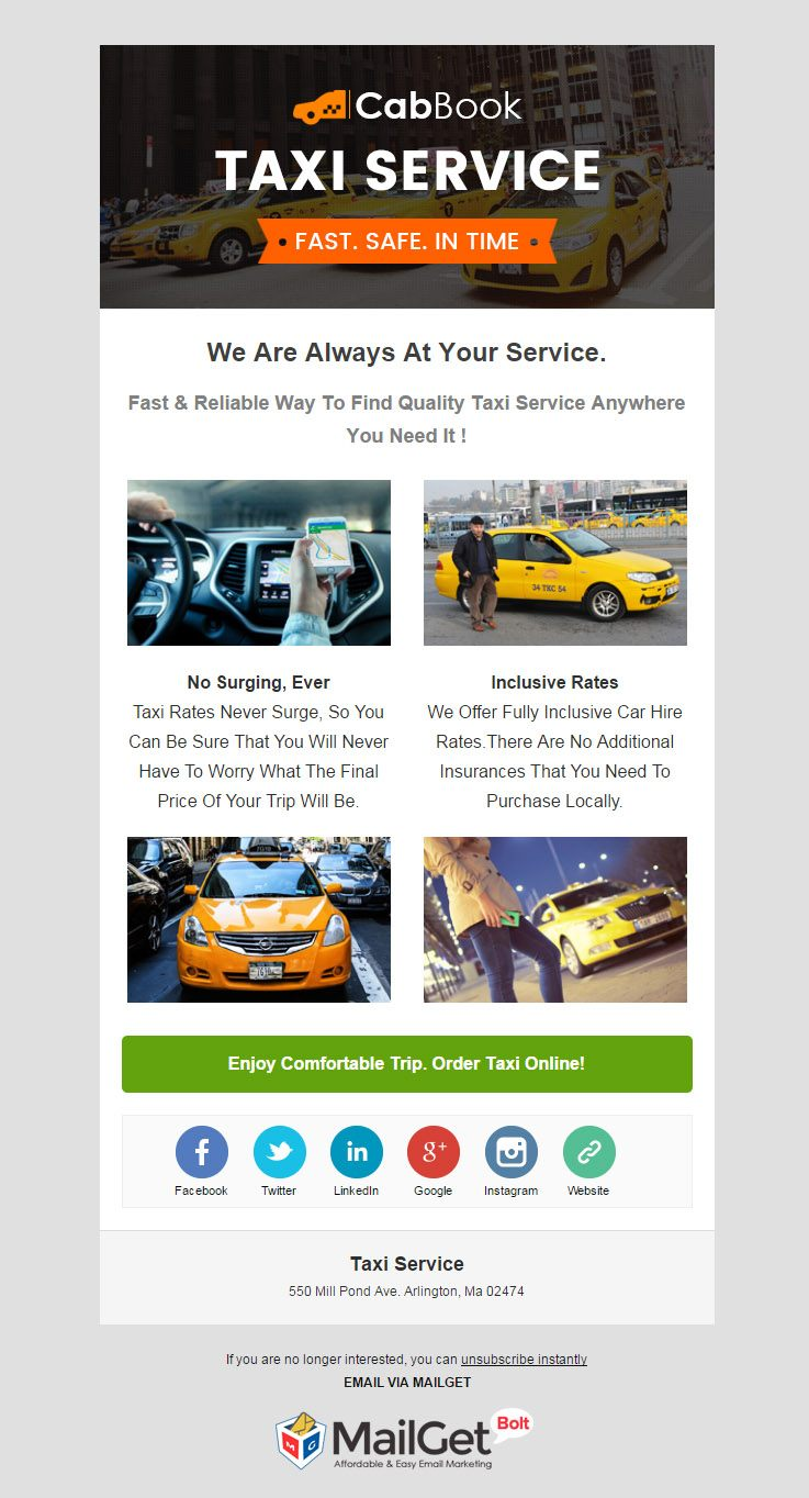 Email Marketing For Taxi & Cab Booking Companies