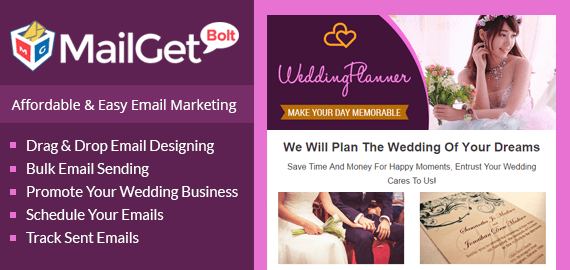 Email Marketing For Wedding Planners slider