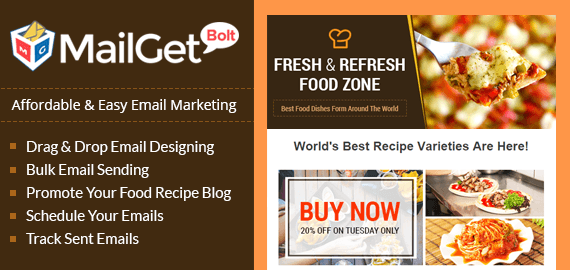 Email Marketing For Food Recipe Blog