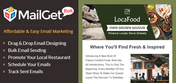 Email Marketing For Locavore Restaurant & Local Food Points