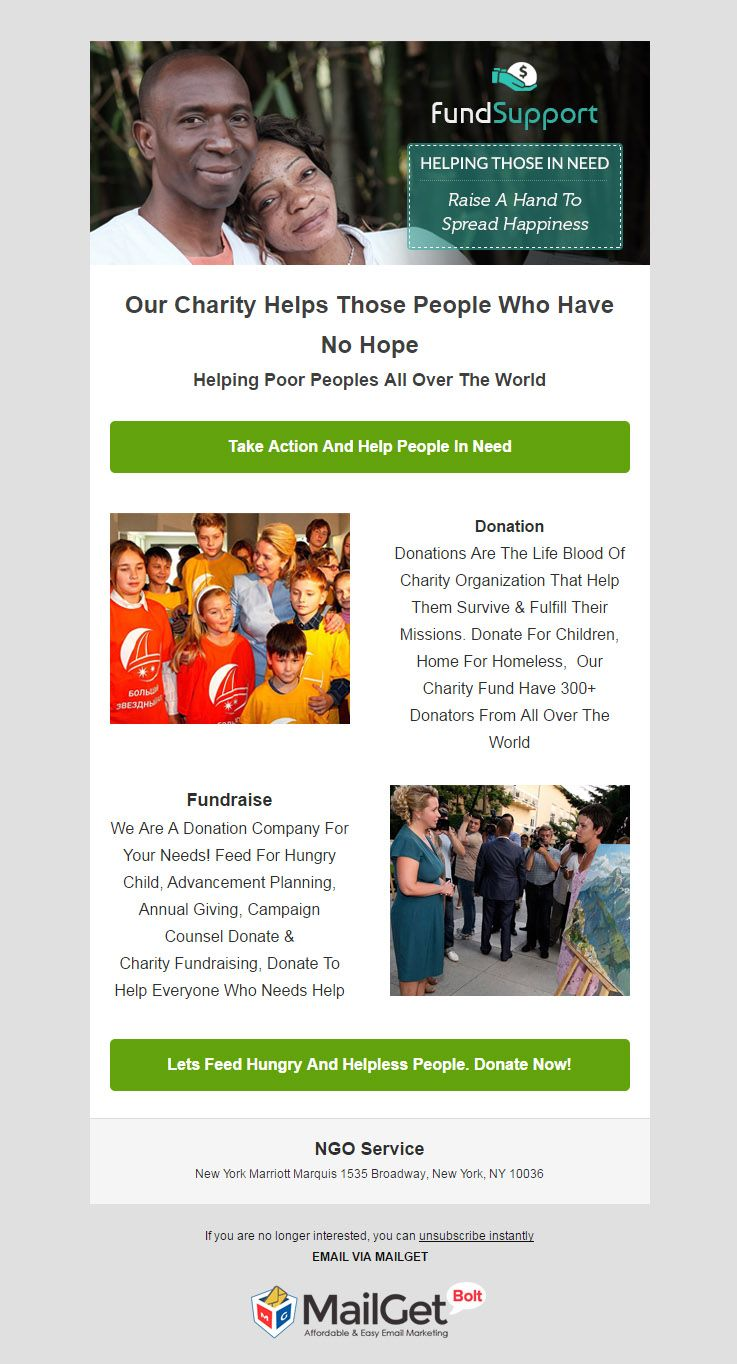 best charity email templates for ngos welfare societies formget