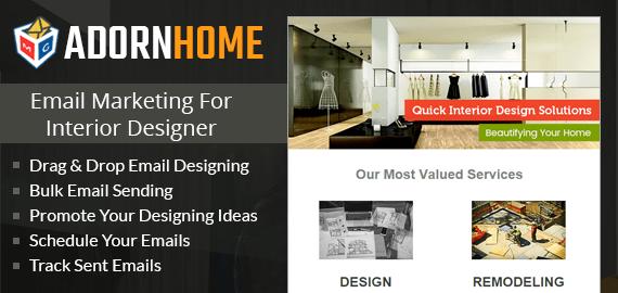 email marketing for interior designer slider image