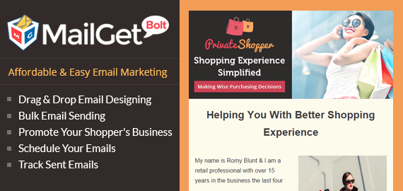 Email Marketing For Personal Shopper Slider Image
