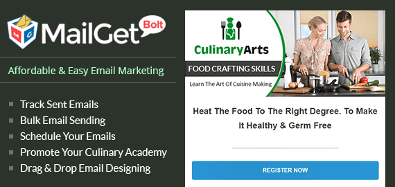 Email Marketing For Cooking Class Slider Image