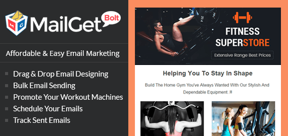 Email Marketing For Fitness Equipment Slider Image