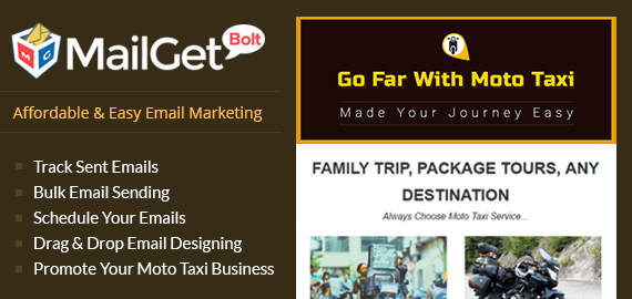 Email Marketing For Moto Taxi Business