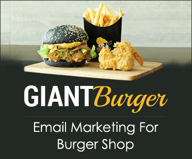 MailGet Bolt – Email Marketing For Burger Shop & Snack Corner