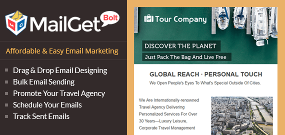 Email Marketing For Travel Agencies & Tour Companies | FormGet
