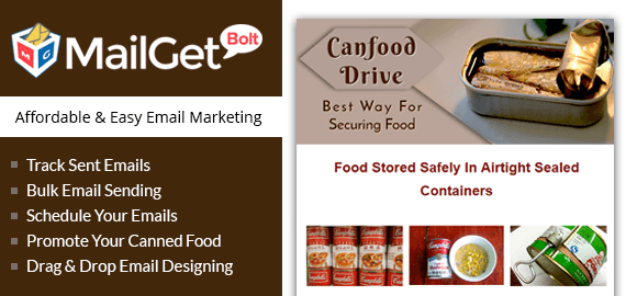 email marketing for canned food