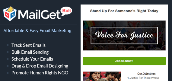 email marketing for human rights groups Slider