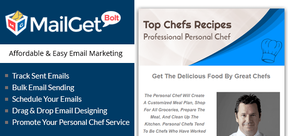 email marketing for personal chefs