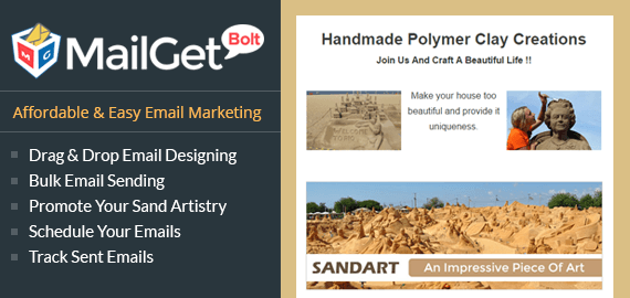 Email Marketing Service For Sand Clay Artists