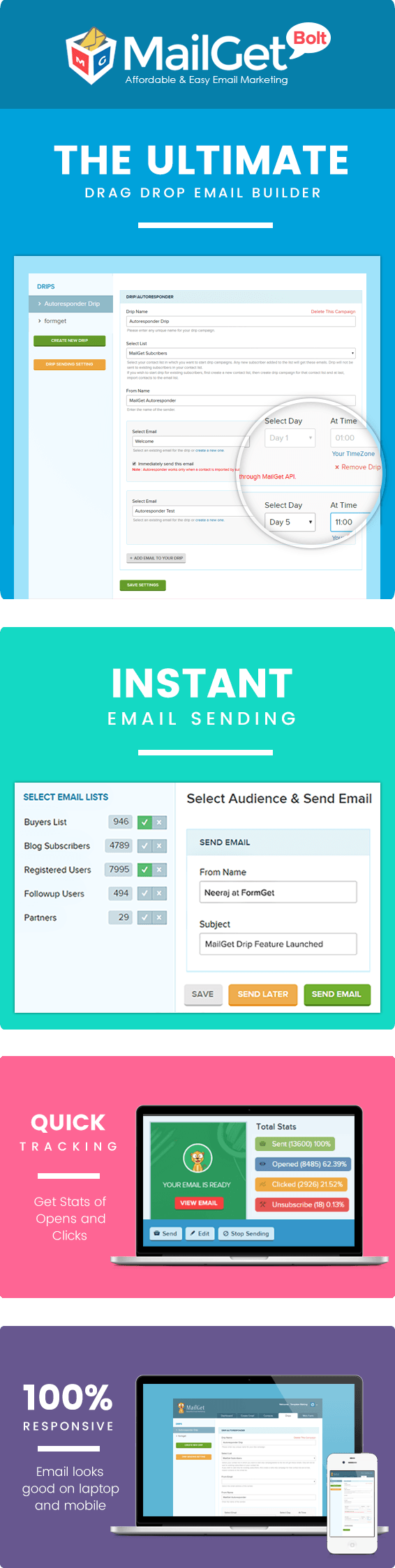 MailGet Bolt - Autoresponder Email Marketing Service