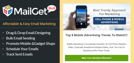 CELL PHONE ADVERTISING EMAIL MARKETING SERVICE FOR MOBILE & GADGET SHOPS Slider