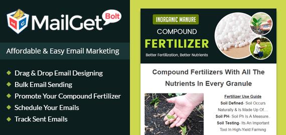 Compound Fertilizer Email Marketing Service Slider