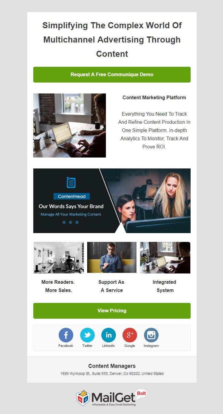 Content Manager Email Template