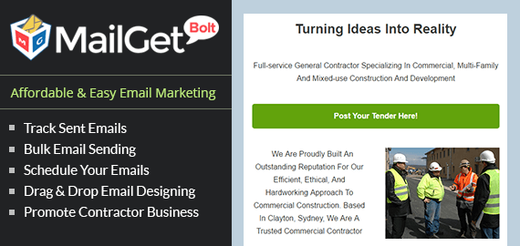 Email Marketing Service For Contractors Slider