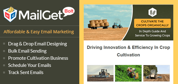 Crop Cultivation Email Marketing Service