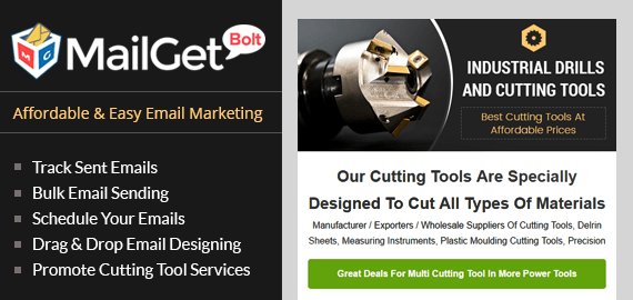 Cutting Tools Email Marketing Service Slider
