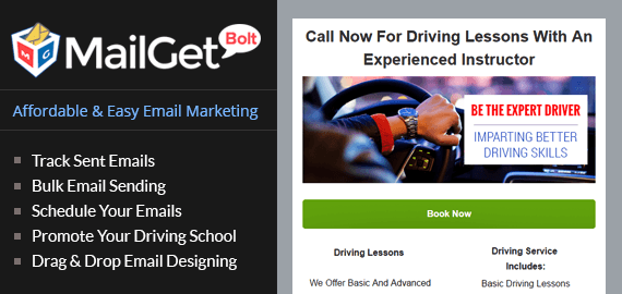 Driving School Email Marketing Service For Car Learning Institutes
