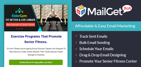 Email Marketing Service For Senior Citizen Fitness Centers