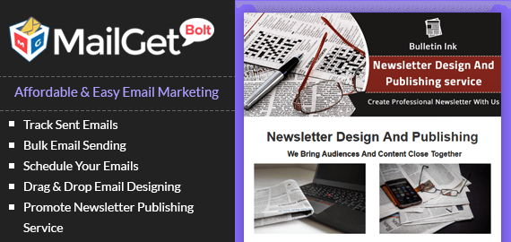 Emaial marketing for newsletter newsletter publication banner