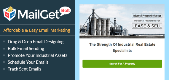 Email Marketin for Industrial Property Slider