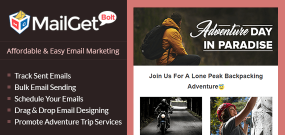 Adventure Trips Email Marketing Service For Holiday & Tour Companies