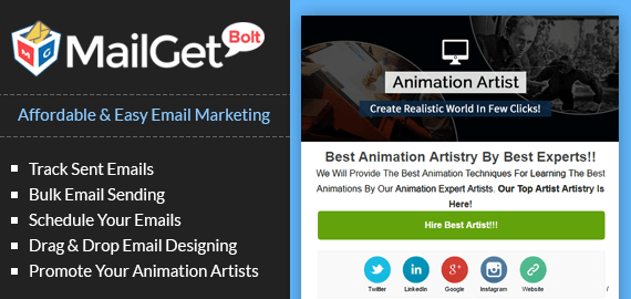 Email Marketing Service For Animation Artists & 3D Animators