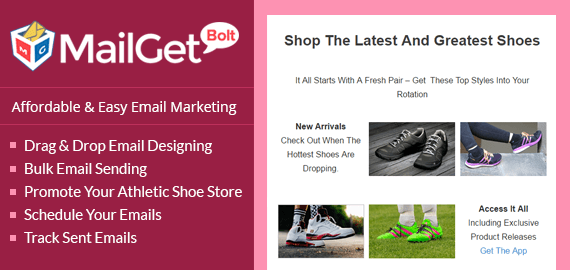 Email Marketing Service For Athletic & Sports Shoe Stores