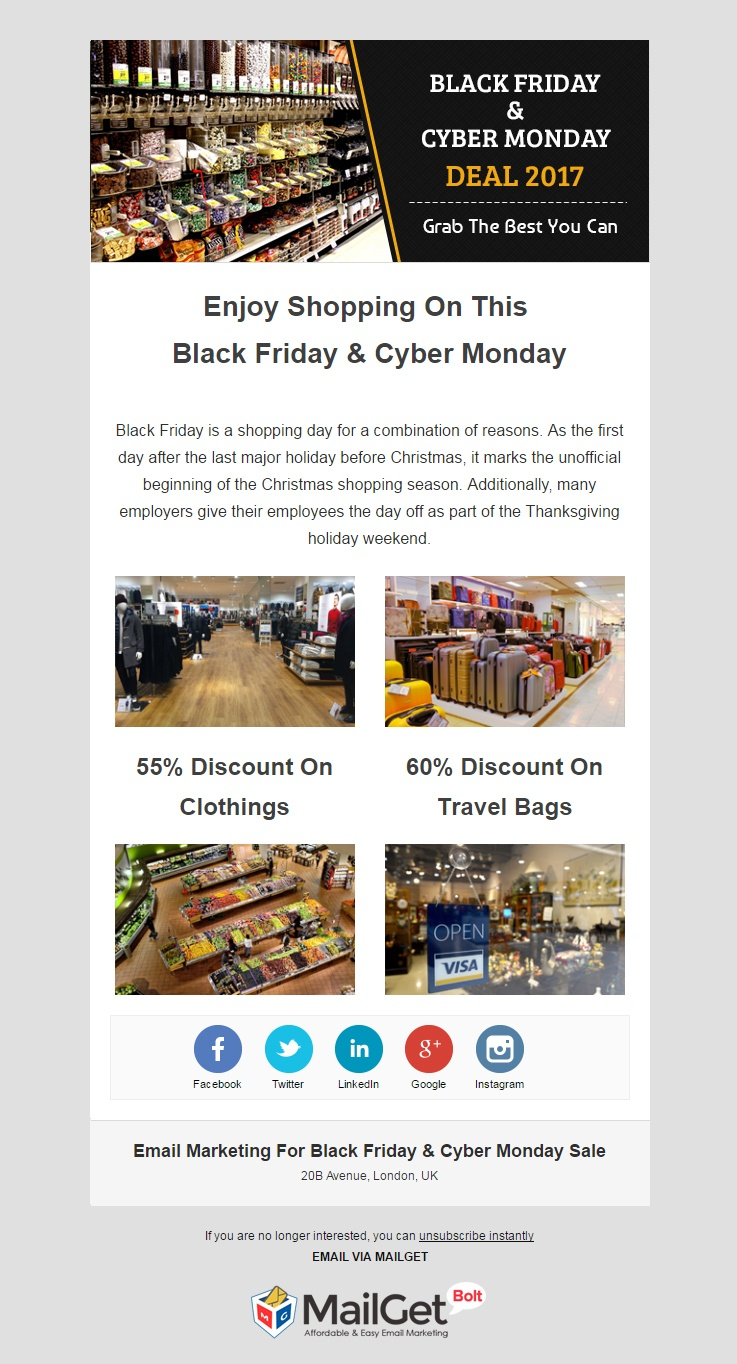 Email Marketing For Black Friday & Cyber Monday