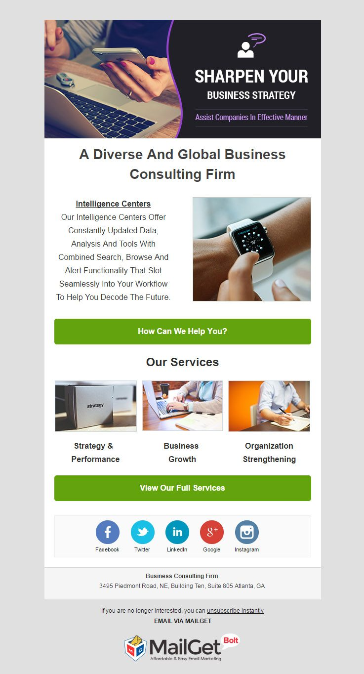 Email Marketing For Business Consulting & Advisory Firms