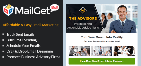 Email Marketing For Business Planning Advisors Slider