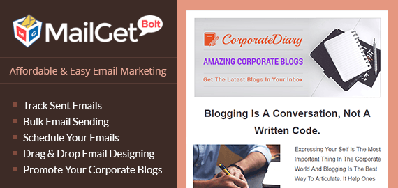 Email Marketing For Corporate Blogger-Slider