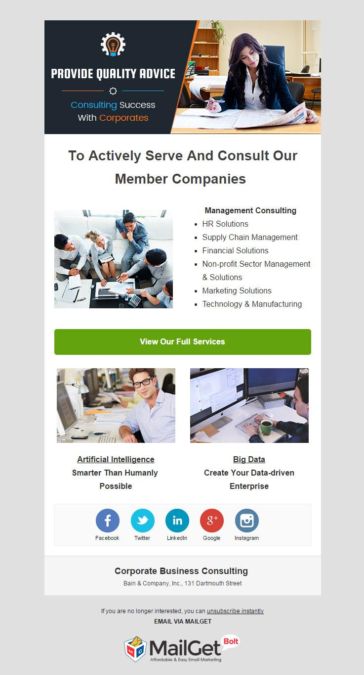 Email Marketing For Corporate Business Consulting