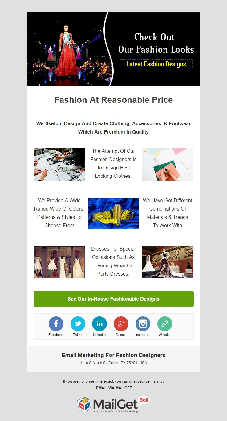 Email Marketing For Fashion Designers & Boutique Shops