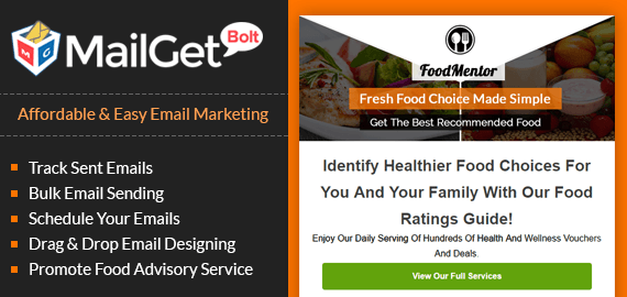 Email Marketing For Food Advisers banner image