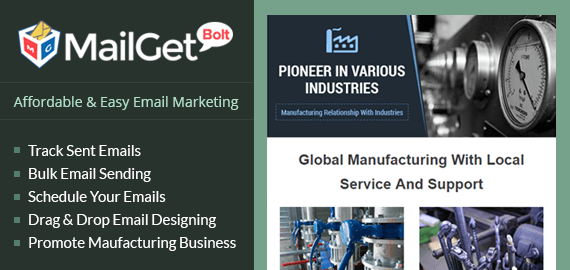Email Marketing Service For Industrial Manufacturers & Production Companies