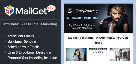 Email Marketing For Modeling Institute Slider