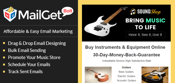 Email Marketing Service For Music Stores & Sound Equipment Shop