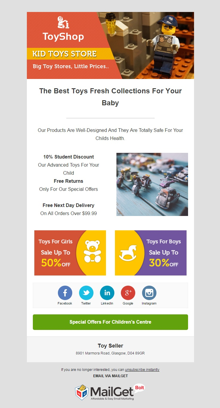 Email Marketing For Online Toys Sellers
