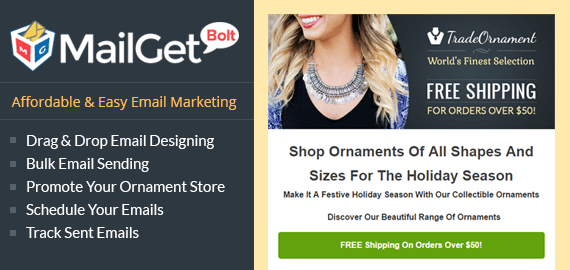 Email Marketing For Ornament Sale- Slider