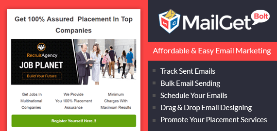 Email Marketing For Placement Agencies SLider