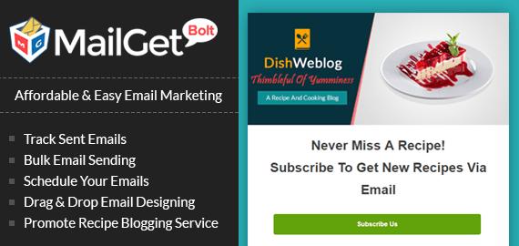 Email Marketing For Recipe slider